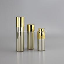 Flacon pompe airless rond rotatif 15ml 30ml 50ml couleur or de luxe