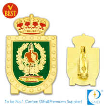 Supply High Quality Gold Finished Enamel Pin Badge with Safety Pin