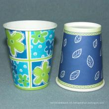 Papeles desechables de un solo papel de café de pared 9.5oz