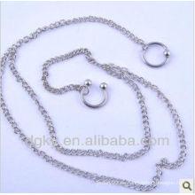 Piercing del cuerpo de herradura joyas ombligo cadena del vientre