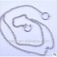 Horseshoe body piercing jewelry navel belly chain