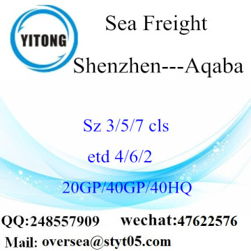 Shenzhen Port Sea Freight Shipping Para Aqaba