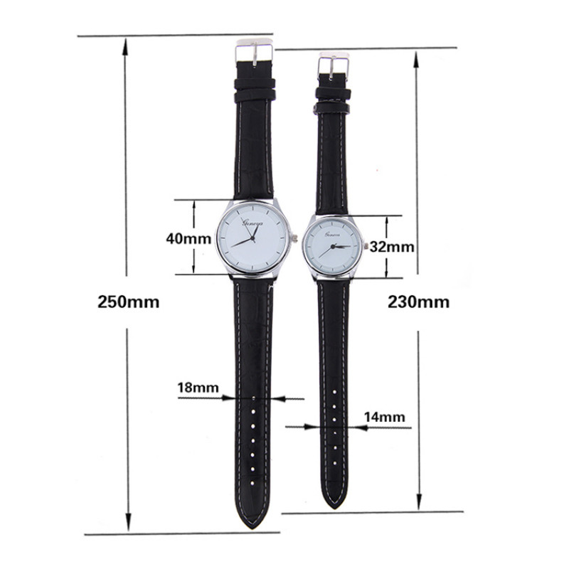 couple leather watch
