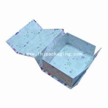 Caja de regalo de embalaje de papel de lujo plegable