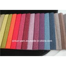 Plaine de haute qualité / tissu de polyester de lin d'impression pour le sofa