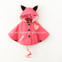 Small Ears and Tail Cloak Cape Woolen Jacket Children