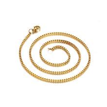 316 Edelstahl Halskette Gold Kette Box Kette Fashion Design 24 Karat vergoldet 316 Edelstahl 5mm Schlange Halskette Kette