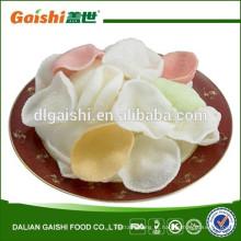 Dalian Seafood Snacks bolachas de camarão não cozidas Chips de camarão
