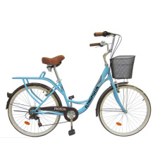 Vélo de ville fille vélo de ville arrière 7 vitesses (FP-LDB-042)