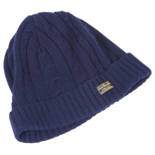 16FZBE03 echo friendly cashmere cable knit beanie hat for men
