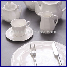 P & T Porcelana fábrica hotel dinnerware café conjunto