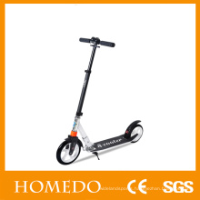 "Adult kick scooters folding height adjustable 8"" big fat wheel scooter"