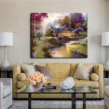 Pintura al óleo clásica del paisaje