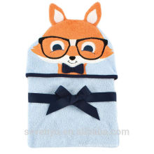 100% bamboo high quality super fluffy and soft premium baby gift towel--Mr Sqirrel