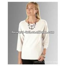 100% cashmere women's sweater, 100% cashmere V neck pull