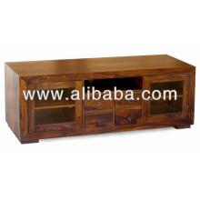 Suporte de TV de madeira para sala de estar