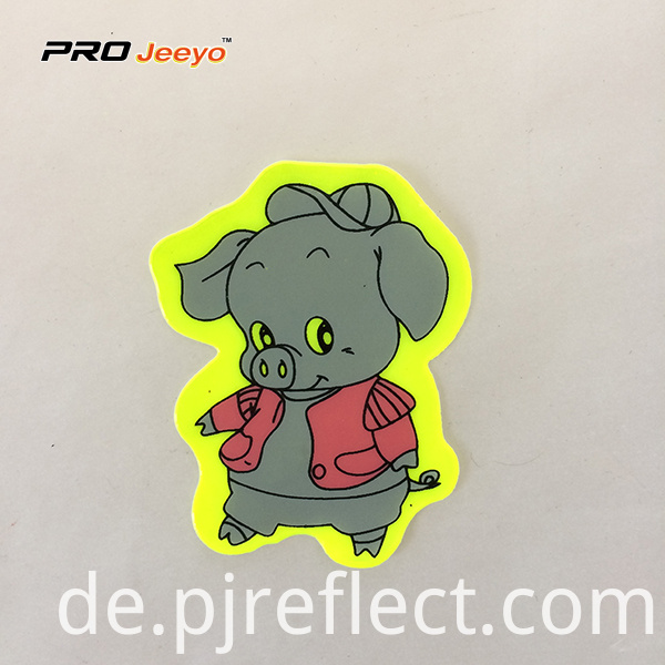 Reflective Adhesive Pvc Pig Shape Stickers For Children Rs Dw006