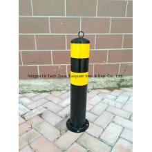 Coluna de aviso de tubo de aço pintado