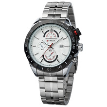 Acier inoxydable Quartz Business Watch Man