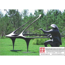 Pianiste Sculpture en Bronze