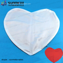 Produtos de sublimação em branco tamanho da impressão capa de travesseiro vermelho