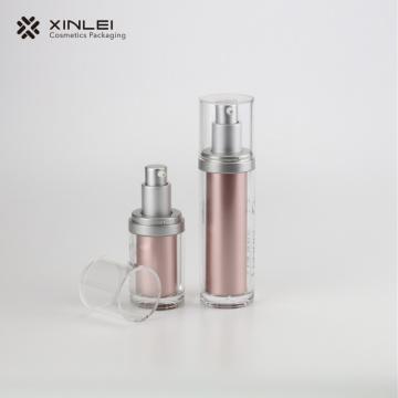 Standard-Zylinder-Pumpflasche für kosmetische Lotion in Rosa