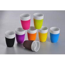 керамическая кружка кофе с силиконовой