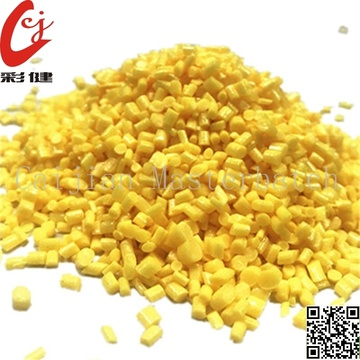 Pearl Light Yellow Masterbatch Granules