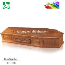 JS-IT017 comércio garantia fornecedor melhor preço barato madeira caixão