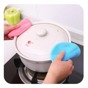 Bottle Mat Heat-resistance Pot Scrubber Silicone Cleaning Brush