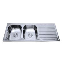 Einteiliges Badezimmer-Waschbecken und Gegenoberseite des rostfreien Stahls