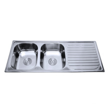 Stainless steel one piece bathroom sink and counter top