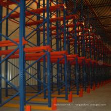 Rack en acier multicouche pré-galvanisé / rayonnage à palettes haute densité