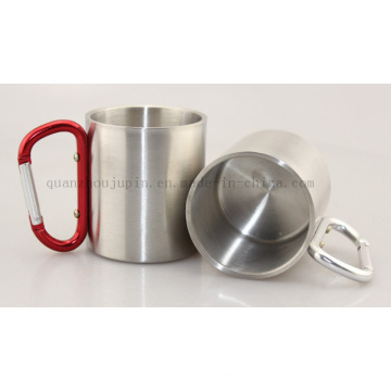 OEM Double Wall Stainless Steel Mug with Climbing Hook