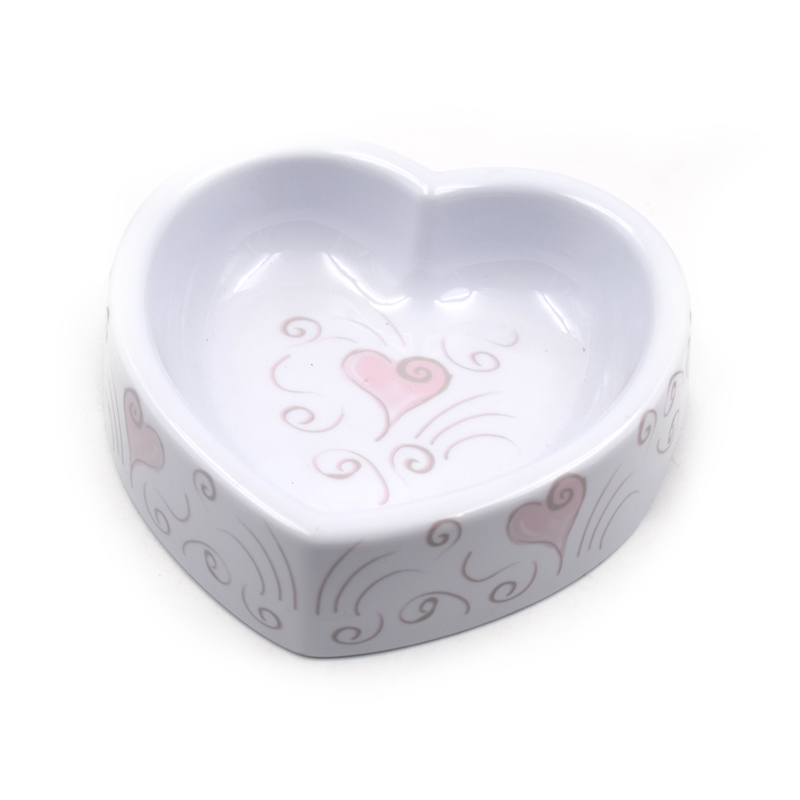 Melamine Heart Shape Pet Water and Food Bowl