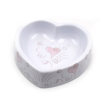 Tazón de melamina en forma de corazón para mascotas, agua y comida