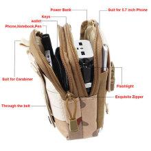 Bolso táctico del paquete de la cintura de la correa de molle de la moda de la caja de la bolsa del teléfono celular del ejército militar