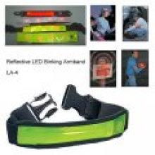 Brassard réfléchissant réfléchissant de bande de marqueur réfléchissant de LED LED avec la bande optique de fibre de LED à l'intérieur