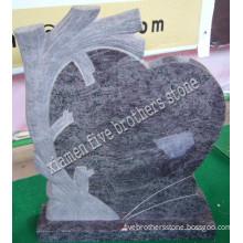 Blue Stone Granite Headstone in Life Tree Design