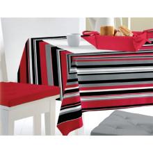 Mantel impreso del patrón del PVC con el forro no tejido / Spunlace (TJ0760)