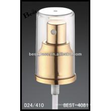 aerosol de aluminio del perfume de oro, aerosol cosmético de las botellas y bomba, rociador de la bomba del perfume