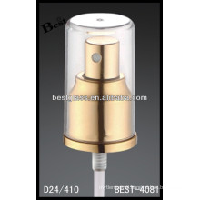 golden perfume aluminum spray , cosmetic bottles spray and pump, perfume pump sprayer