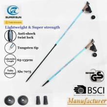 Supersun outdoor mountain climbing stick aluminum ultralight adjustable mountaineering trekking pole