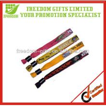 Logotipo Personalizado Fashion Fabric Event Wristbands