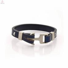 Nouvelle arrivée de haute qualité en cuir Bracelet ancre bijoux