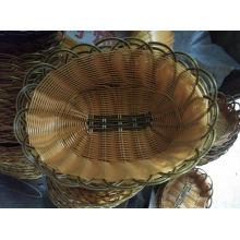 Panier de pain rectangulaire coloré en mousse en bambou de qualité (en plastique)