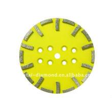 Têtes de meulage de surface de 250 mm