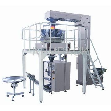 Machine d'emballage de joint de remplissage de forme verticale avec poids combiné