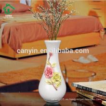 Vario florero de cerámica de cerámica blanca china para la decoración casera