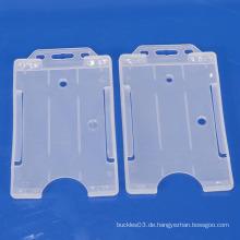 Kundenspezifische heiße Verkaufporzellangroßverkaufplastikdoppelseiten Identifikation-Kartenhalter